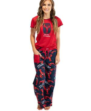Pinch Me.. I'm Dreaming Women's Lobster Fitted PJ Set