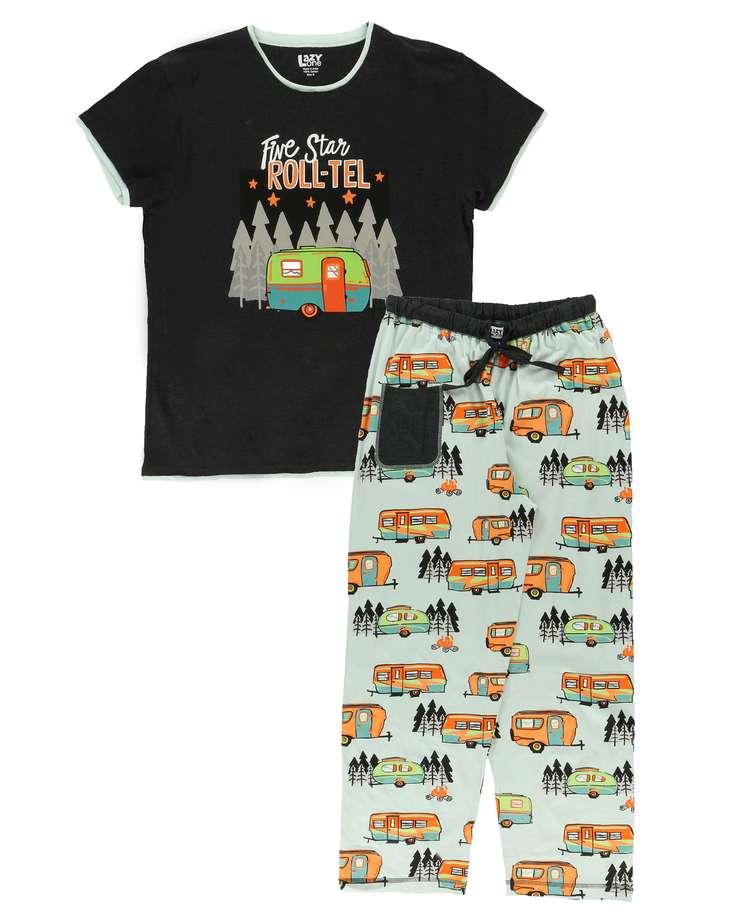 Five Star Roll-tel Women's Regular Fit PJ Set