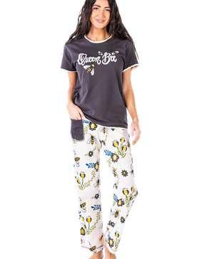 Queen Bee Women's Regular Fit PJ Set