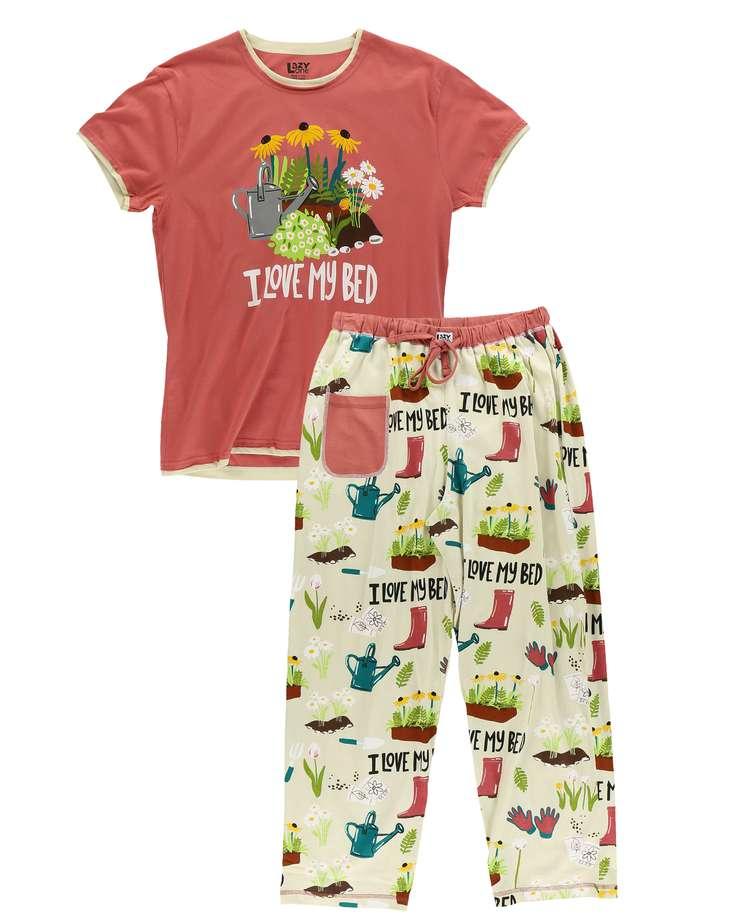 Love My Bed Women's Regular Fit Garden PJ Set