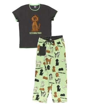 Fetching Tired Women's Regular Fit Dog PJ Set