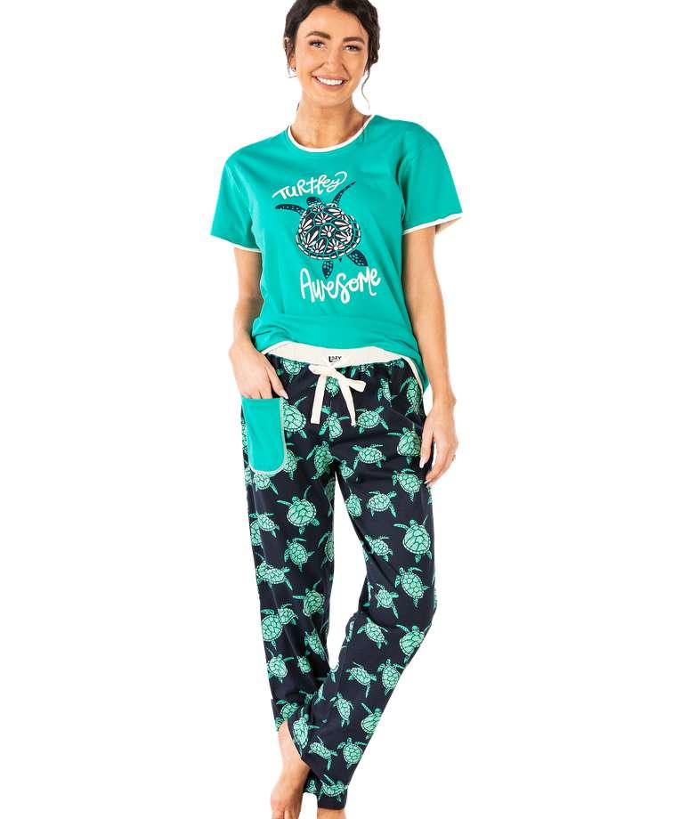 Turtley Awesome Women's Regular Fit Turtle PJ Set