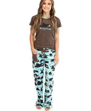 Bearly Awake Women's Fitted PJ Set