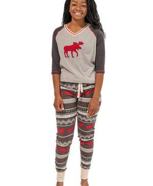 Cabin Moose Women's Legging Set