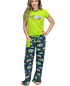 Night Out Women's Camper Fitted PJ Set
