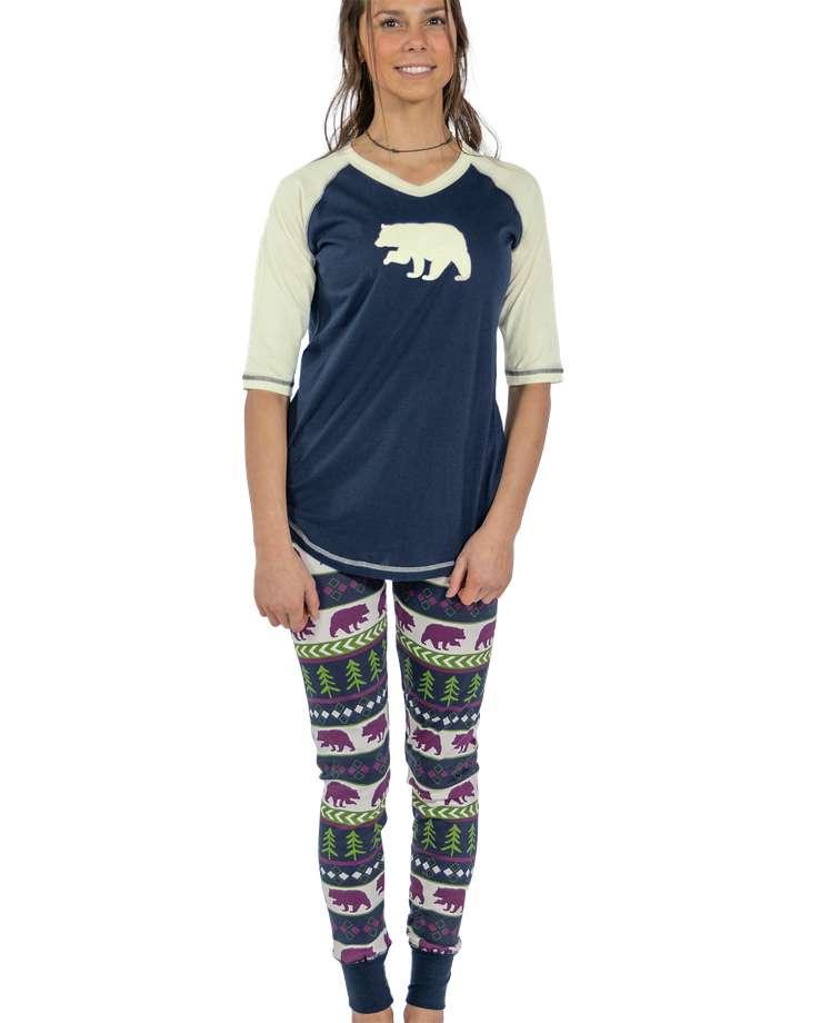 Bear Fair Isle Women's Legging Set