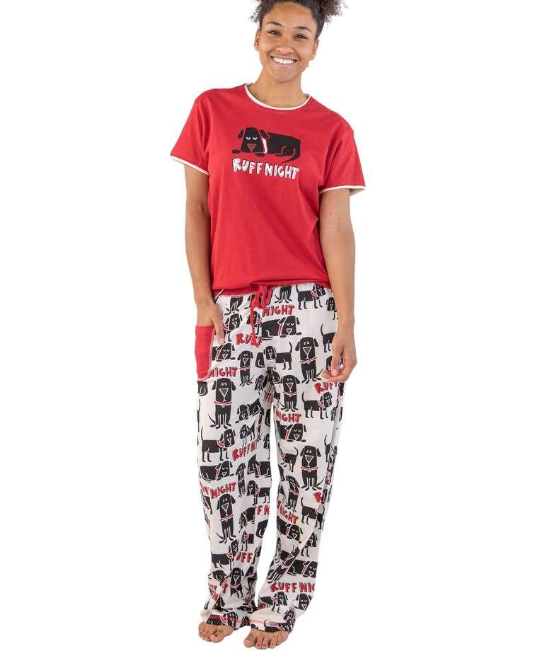 Ruff Night Women's Regular Fit Dog PJ Set