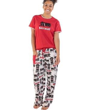 Ruff Night Women's Regular Fit Dog PJ Set