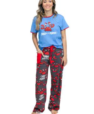 Crabby in The Morning Women's Regular Fit PJ Set