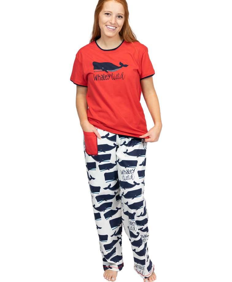 Whaley Tired Women's Regular Fit PJ Set