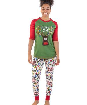 Lights Out! Women's Reindeer Legging Set