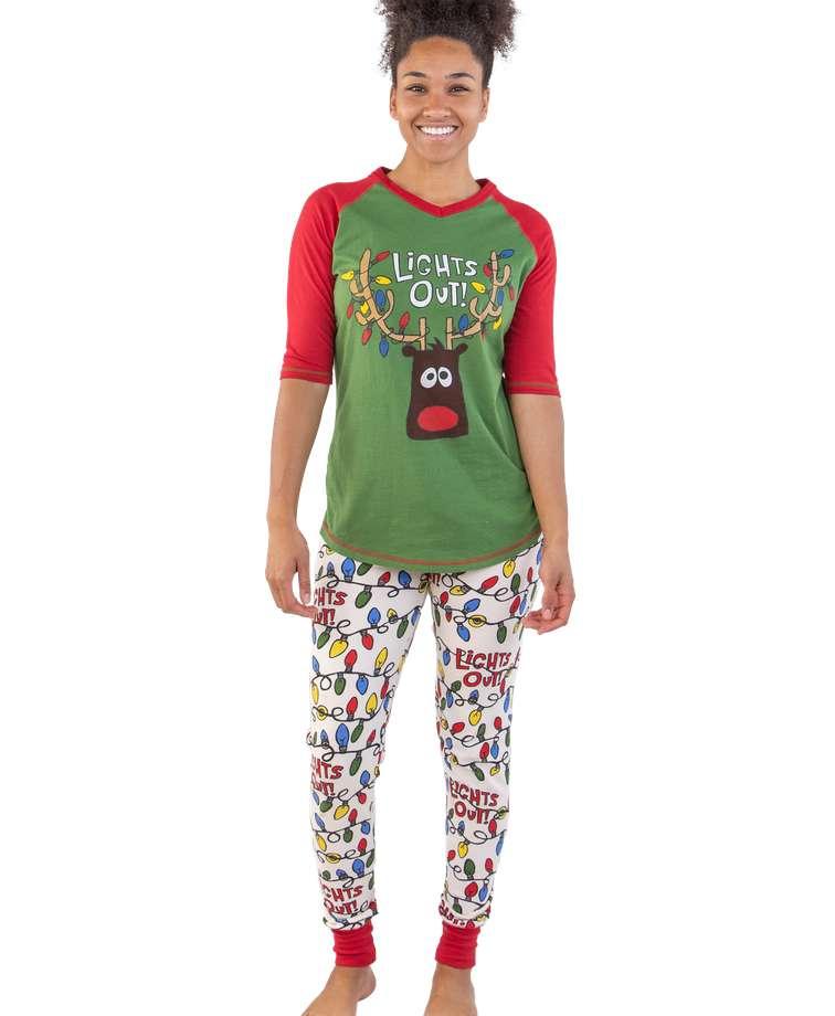 Lights Out! Women's Reindeer Legging Set