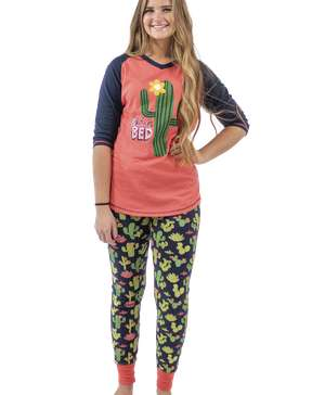 Stuck in Bed Women's Cactus Legging Set