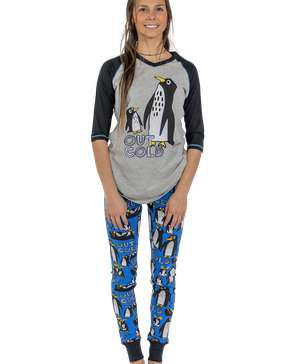 Out Cold Women's Penguin Legging Set