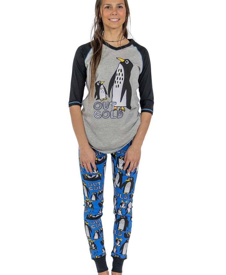 Out Cold Women's Penguin Legging Set