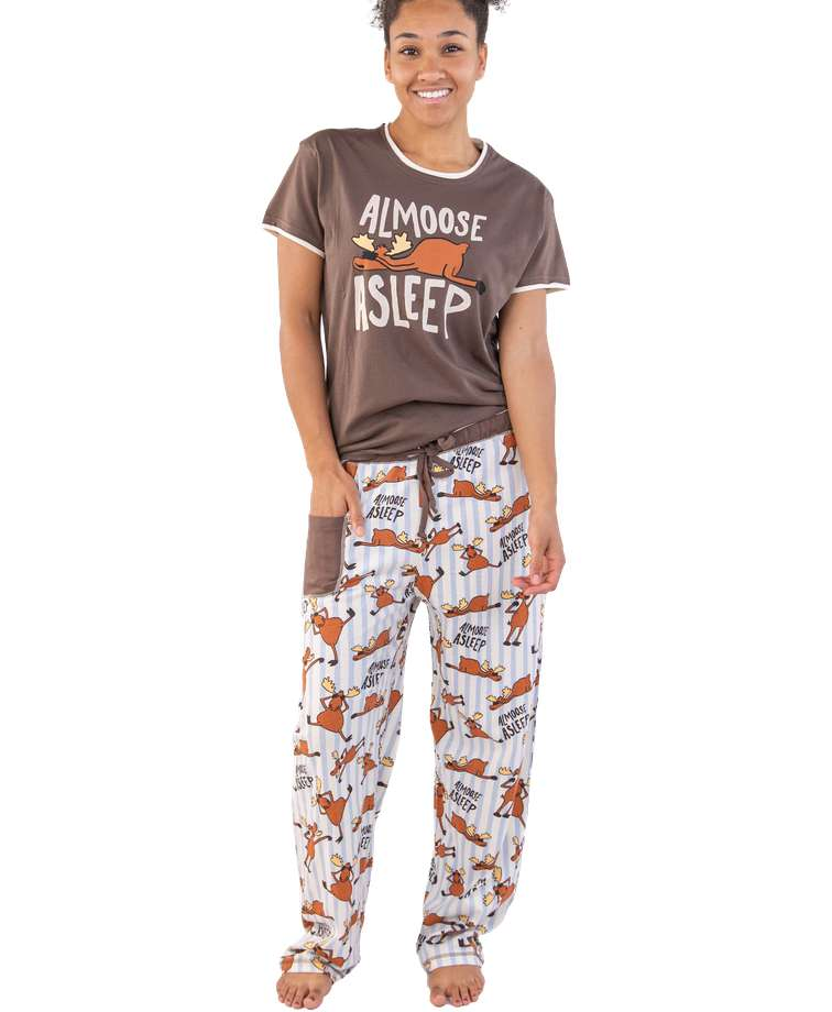 Almoose Asleep Women's Regular Fit PJ Set