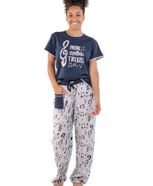 Here Comes Treble Women's Music Regular Fit PJ Set