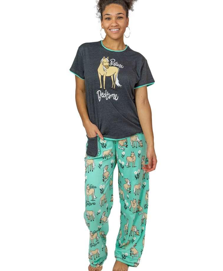 Pasture Bedtime Women's Horse Regular Fit PJ Set