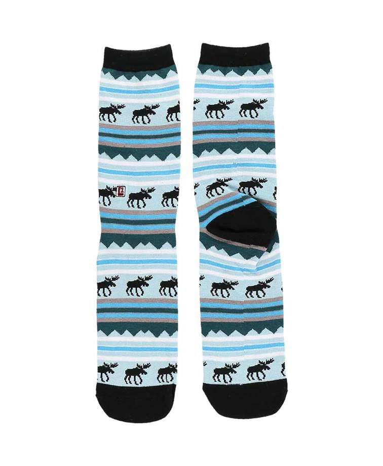 Winter Moose Crew Sock