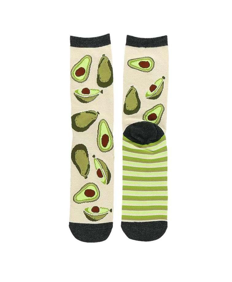Avocado Go To Bed Crew Sock