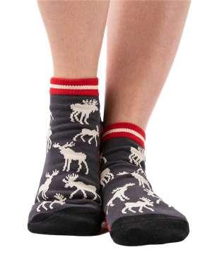 White Moose Anklet Sock