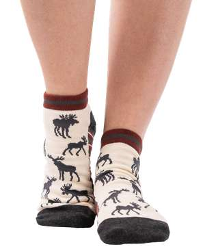 Grey Moose Anklet Sock