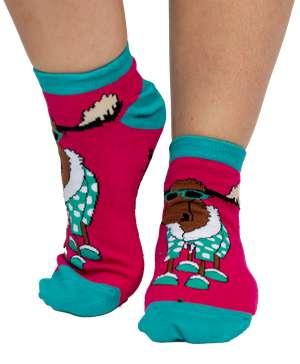 Don't Do Mornings Moose Women's Slipper Sock