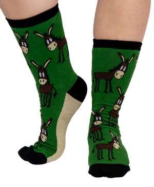 Lazy Ass Donkey Crew Sock