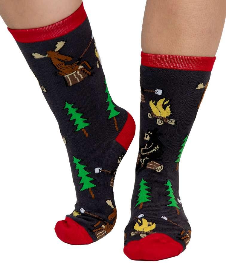 Happy Camper Crew Sock