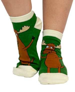 Moose Hug Slipper Sock