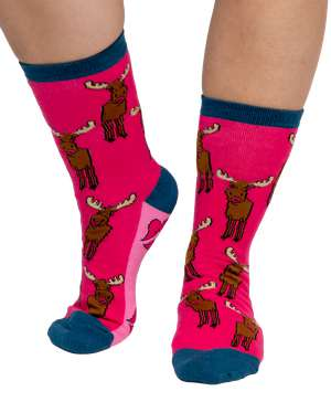 Moose Kiss Crew Sock