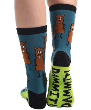 Dammit Beaver Crew Sock
