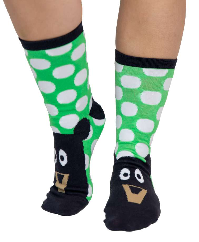Beary Tired Crew Sock
