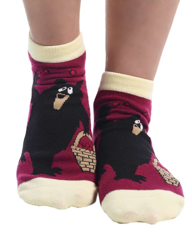 Huckleberry Bear Women's Slipper Sock