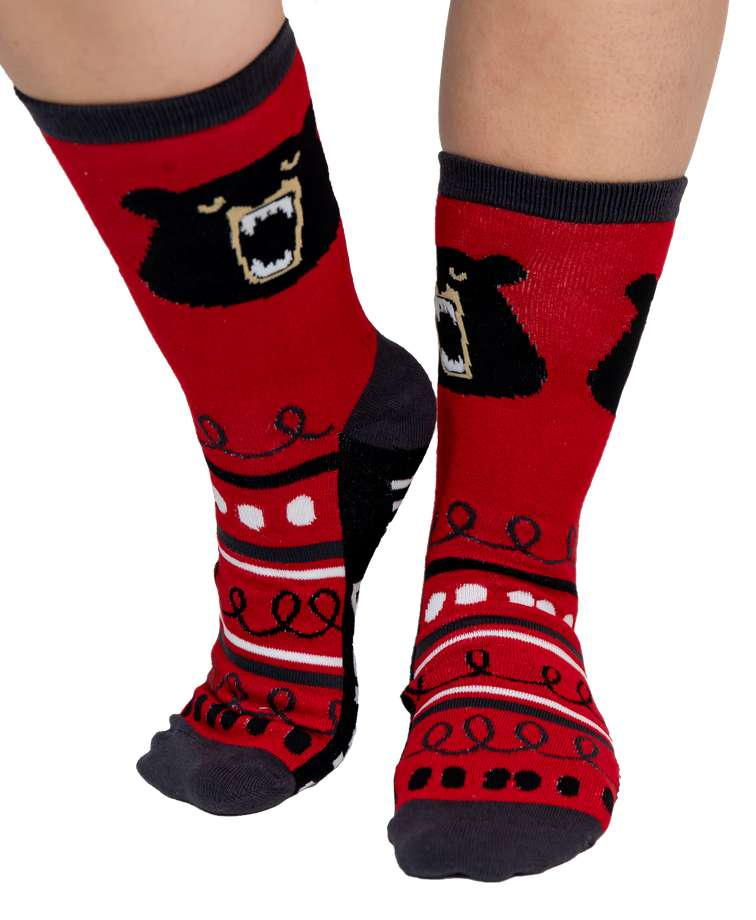 Don't Wake the Bear Crew Sock