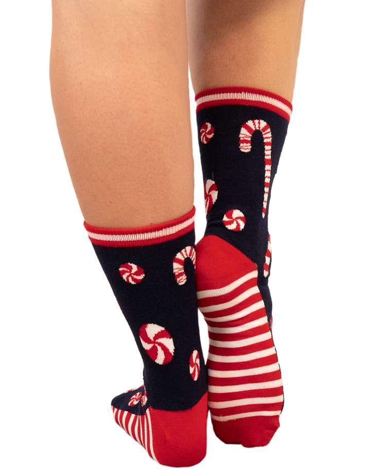 Candy Cane Crew Sock