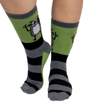 Pull My Finger Raccoon Crew Sock
