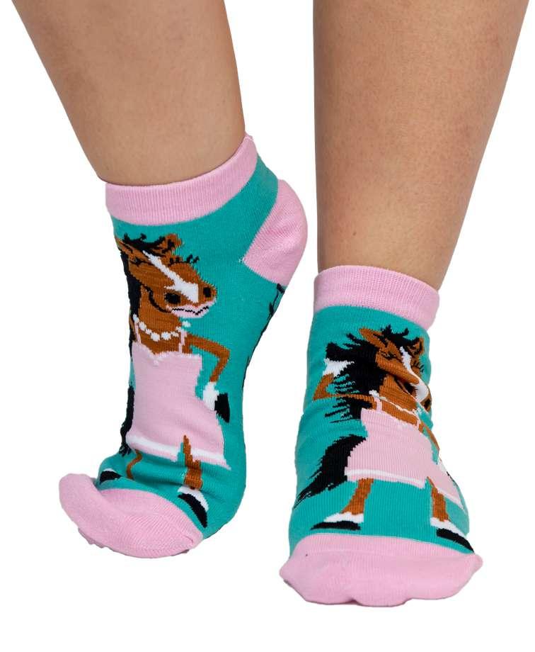 Hot to Trot Horse Women's Slipper Sock
