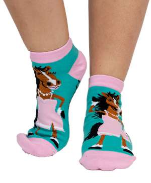 Hot to Trot Horse Women's Slipper Sock