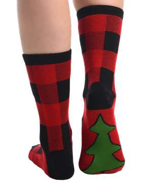 Plaid Crew Sock