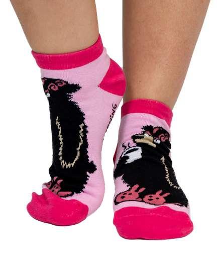 LazyOne Unisex Dont Moose With Me Erwachsenen Slipper Socken Gr/ö/ße 37-41