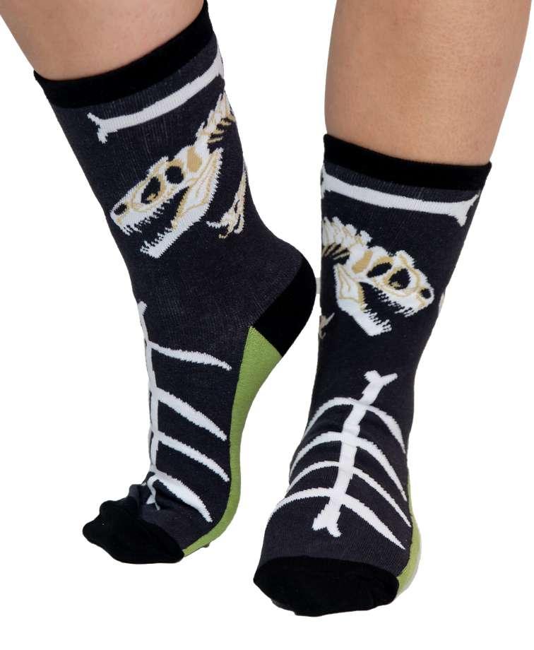Ex-Stinked Dinosaur Adult Crew Sock