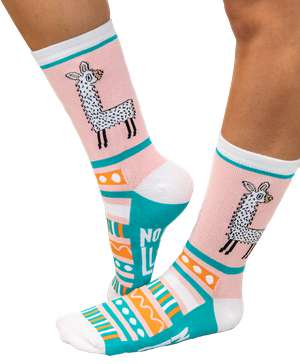 No Prob Llama Crew Sock