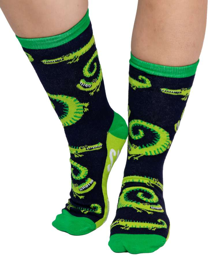Smell You Later Alligator Crew Sock