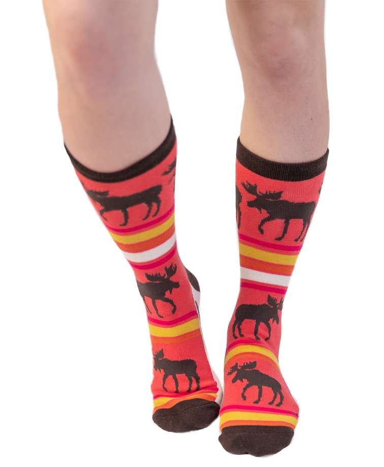 Don't Moose With Me Crew Sock