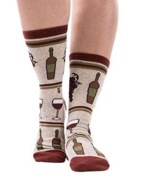 Wine Down Crew Sock