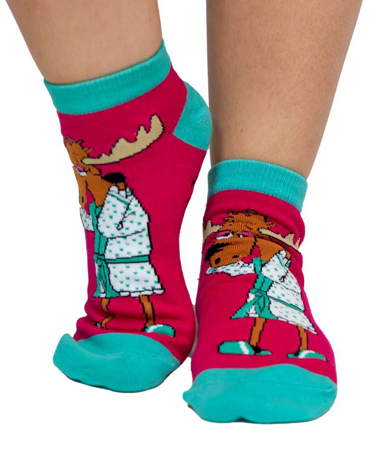 Need A Moose-age Women's Slipper Sock