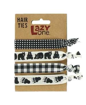 Black Bear Hair Ties