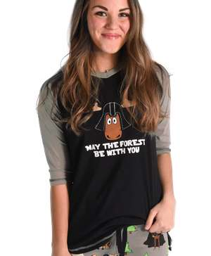 May The Forest Be With You Women's Moose Tall Tee