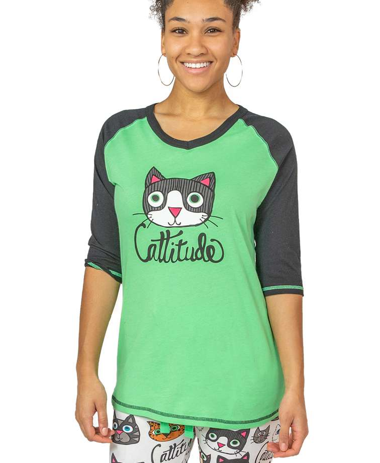 Cattitude Women's Cat Tall Tee